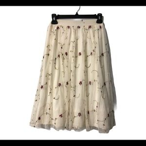 New Look White Embroidered Girls Skirt